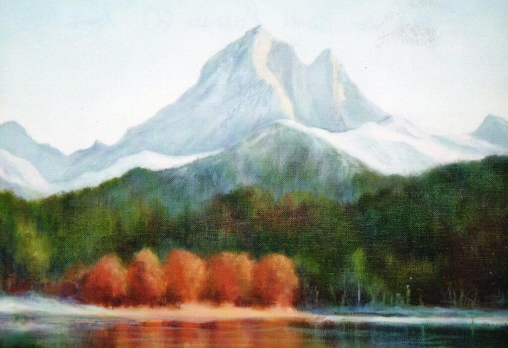 Pic du Midi d'Ossau montagne enneigée automne